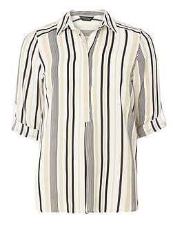 Stripe Collar Shirt