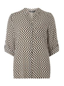 Dorothy Perkins Geometric Non Collar 1 Pocket Shirt