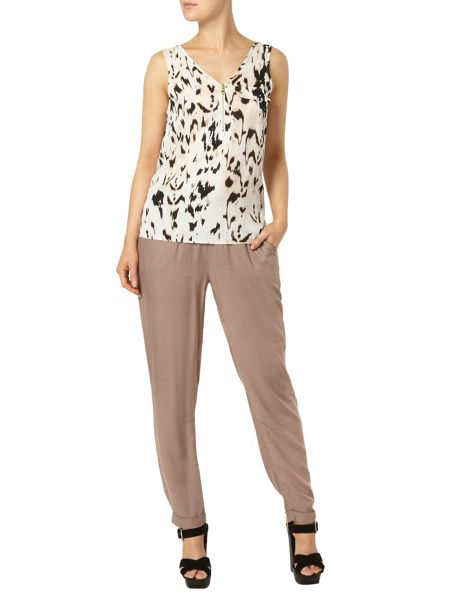 Dorothy Perkins Animal Print Zip Front Vest