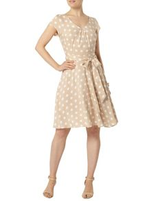Dorothy Perkins Billie and Blossom Spot Fit and Flare Dress