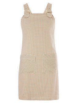 Dogtooth Pinafore Dress