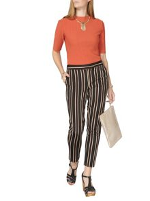 Dorothy Perkins Wine Stripe Textured Trouser