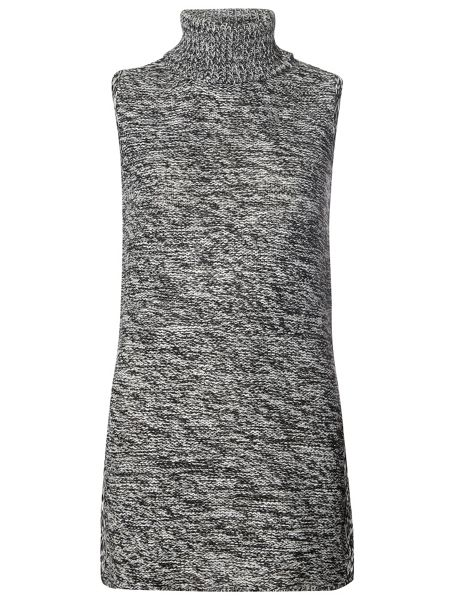 Dorothy Perkins Salt and Pepper Roll Neck Tabard Top