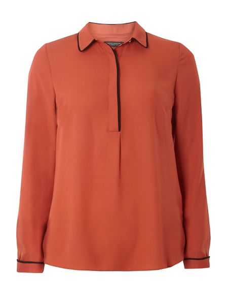 Dorothy Perkins Tipped Collar Shirt