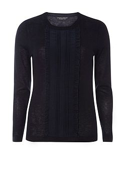 Frill Front Knitted Jumper