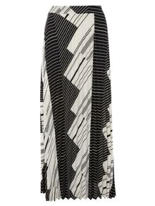 Dorothy Perkins Sripe Pleat Maxi Skirt