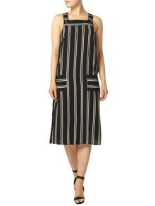 Dorothy Perkins Stripe Pinafore Midi Dress