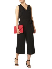 Dorothy Perkins Black Wrap Jumpsuit