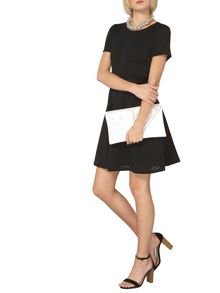 Dorothy Perkins Ladder Trim Fit and Flare Dress
