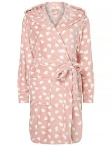 Dorothy Perkins Heart Print Dressing Gown