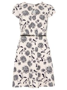Dorothy Perkins Oriental Belted Dress