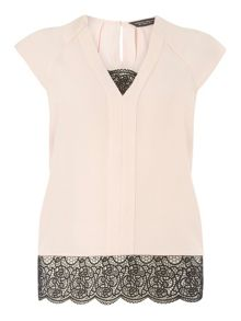 Dorothy Perkins Double Layer Lace Top