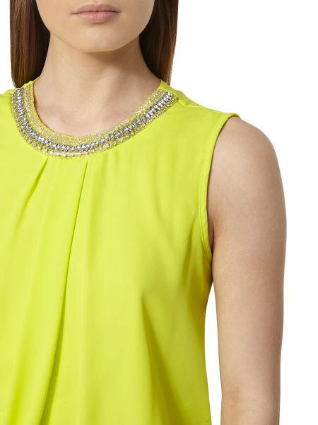 Dorothy Perkins Embellished Bubble Hem Top