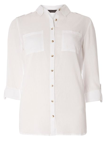 Dorothy Perkins Twill Tab Casual Shirt