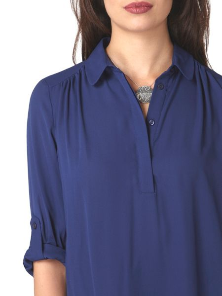 Dorothy Perkins Petite Roll Sleeve Shirt