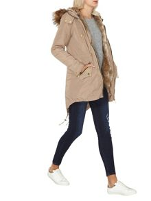 Dorothy Perkins Detachable Fur Parka Coat