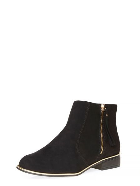 Dorothy Perkins Merci Croc Pattern Ankle Boots