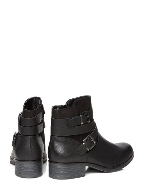 Dorothy Perkins Wide Fit Wagon Biker Boots