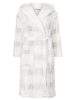 Petite Check Dressing Gown