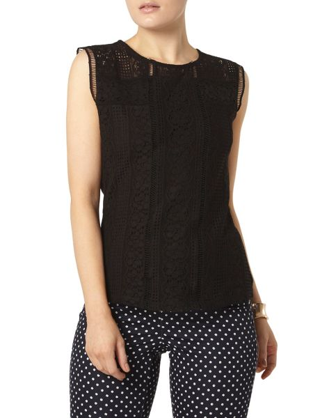 Dorothy Perkins Mixed Lace Shell Top