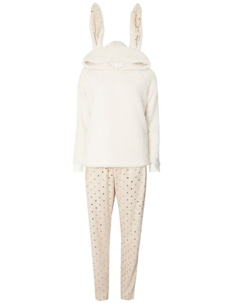 Dorothy Perkins Fleece Pyjama Set with Bunny Ears
