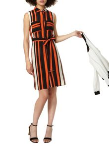 Dorothy Perkins Stripe Sleevless Shirt Dress