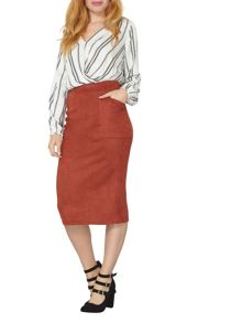 Dorothy Perkins Suede Column Skirt