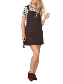 Dorothy Perkins Fig Pocket Pinafore Dress