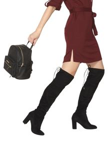 Dorothy Perkins Kassandra Suedette Over the Knee Boots