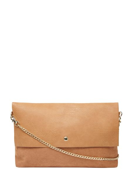 Dorothy Perkins Faux Suede Foldover Clutch Bag