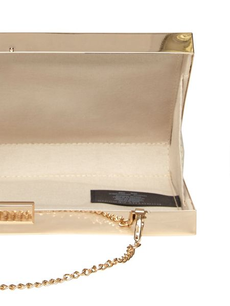 Dorothy Perkins Mix Panelled Box Clutch Bag