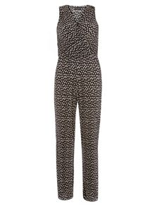 Dorothy Perkins Spot V Neck Wrap Jumpsuit