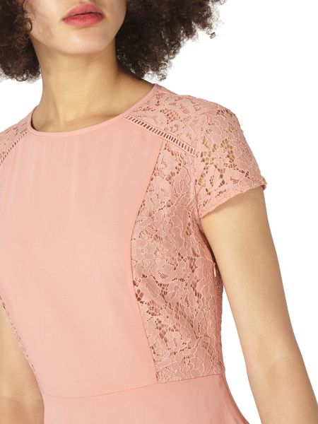 Dorothy Perkins Lace Chiffon Fit and Flare Dress