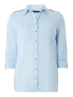 Chambray Tab Casual Shirt