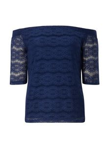 Dorothy Perkins Lace Bardot Top