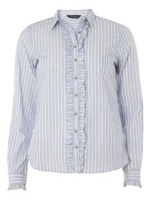 Dorothy Perkins Stripe Frill Front Shirt