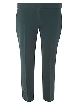 Green Side Tab Ankle Grazer Trousers