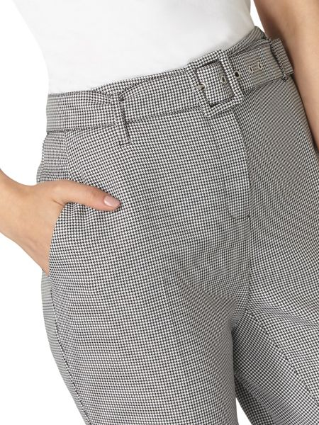 Dorothy Perkins Mono Dogtooth Tapered Trousers