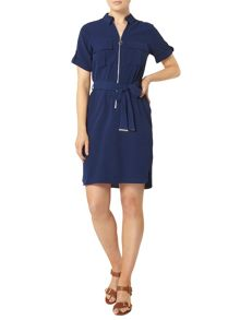 Dorothy Perkins Zip Front Shirt Dress