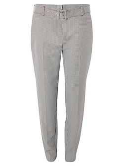 Tall Dogtooth Tapered Trousers