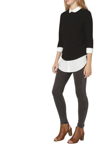 Dorothy Perkins Stab Stitch 2 in 1 top