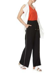 Dorothy Perkins Piped Palazzo Trousers