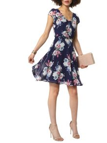 Dorothy Perkins Billie and Blossom Floral Chiffon Dress