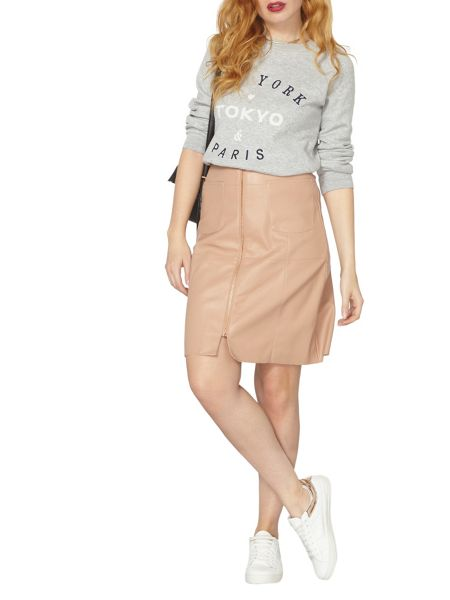 Dorothy Perkins PU Extended A-Line Skirt
