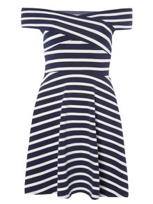 Dorothy Perkins Stripe Bardot Dress