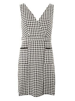 Wrap Front Pinny Dress