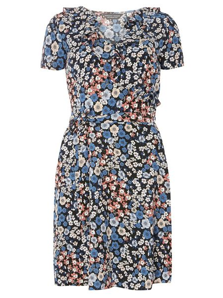 Dorothy Perkins Floral Ruffle Fit and Flare Dress