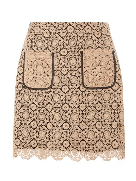 Dorothy Perkins Lace A-Line Skirt