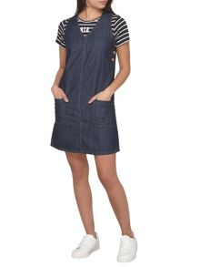 Dorothy Perkins Petite Denim V Neck Pinafore Dress
