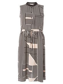 Dorothy Perkins Petite Stripe Shirt Dress
